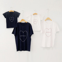 Mom Father Son Daughter Baby T Shirts Summer Family Matching Outfit Love Family Look Matching Clothes Short Sleeve Tops Tees