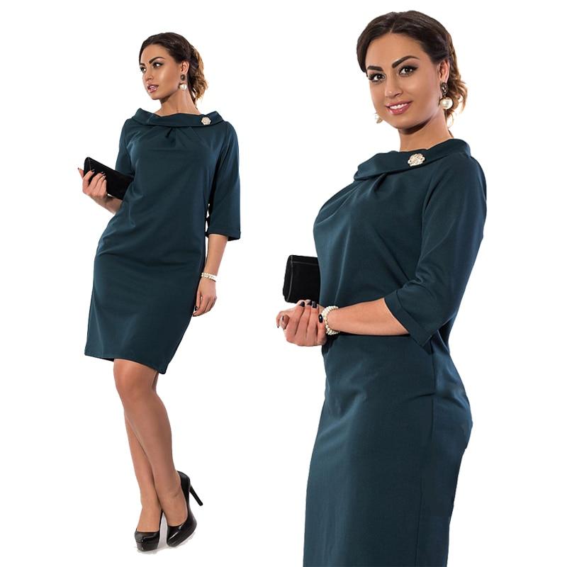 US $16.12 19% OFF|Simple Women Dress 5XL 6XL Plus Size Women Clothing  Bodycon Office Work Dress Big Size robe femme ete 2017 Autumn Dress  Vestidos-in ...