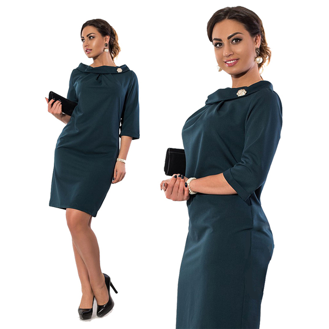 d76edb1cd22 Simple Women Dress 5XL 6XL Plus Size Women Clothing Bodycon Office Work  Dress Big Size robe