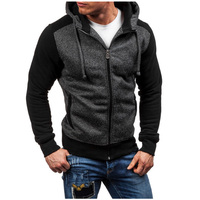 Men Hoodies 2017 Sudaderas Hombre Hip Hop Mens Brand Stitching Zipper Hoodie Sweatshirt Slim Fit Men