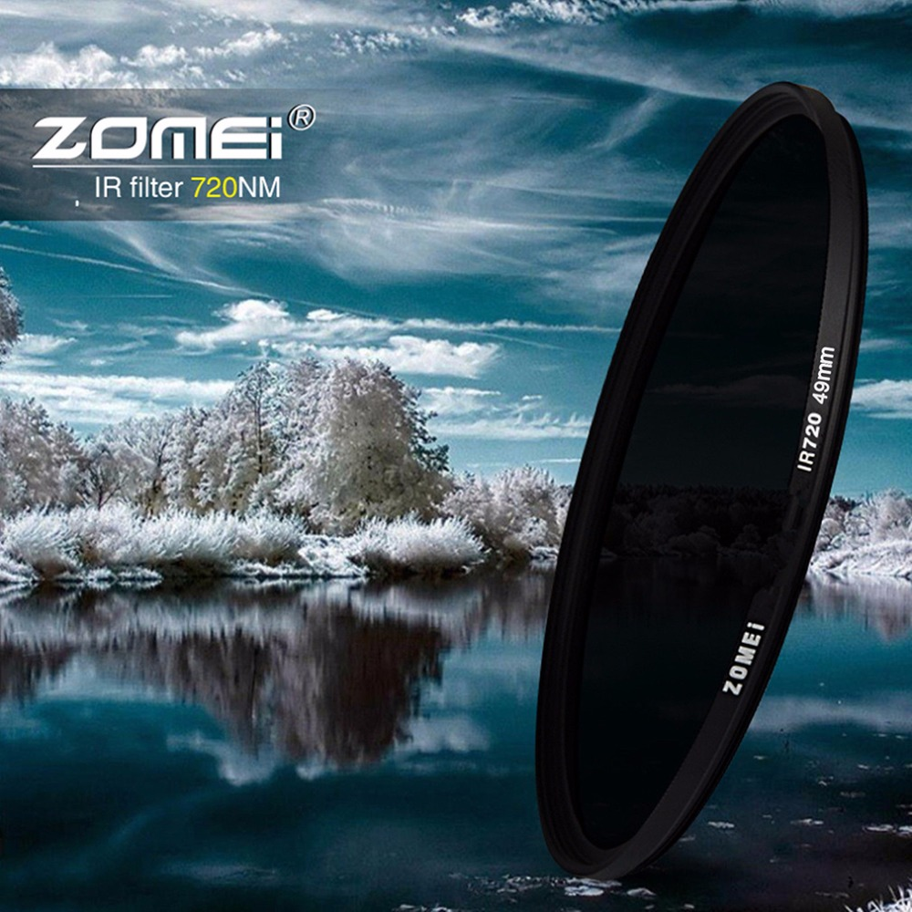 Zomei Ultra Slim Infrared IR Filter Perfect For Cameras Standard Aluminum Frame 49mm 52mm 58mm 62mm 67mm 77mm 82mm цена