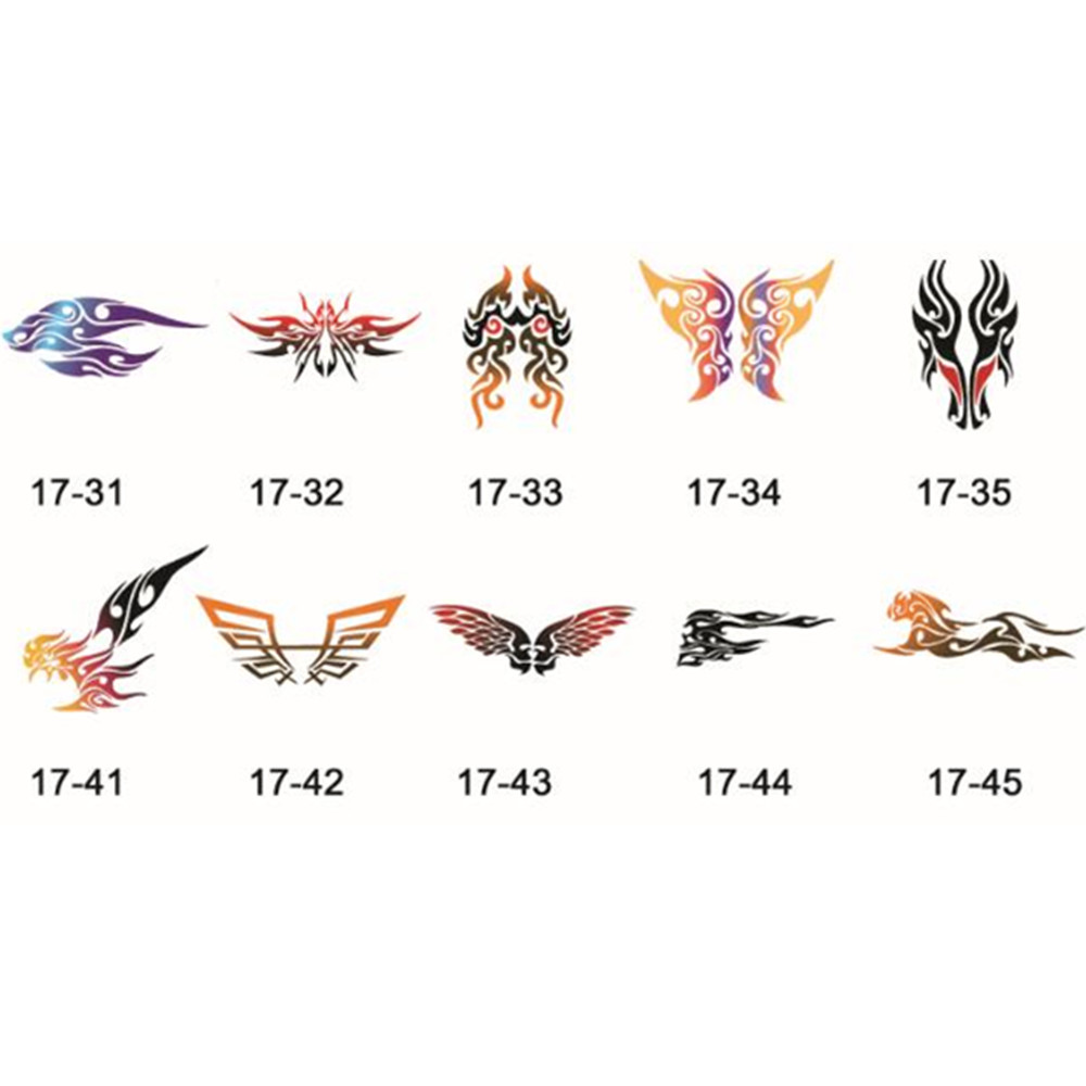 50 abstract designs self adhesive body art temporary tattoo