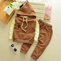 boys clothing set  children sport hoodies + t shirt+pants 3pcs/sets high quality  kids clothes suit set  az08