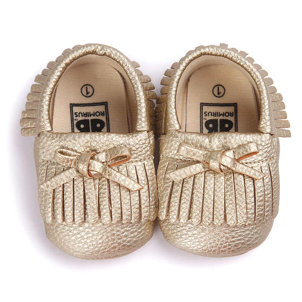 ABWE Best Sale ROMIRUS Latest Baby Tassel Bow Moccasins Infant Casual Shoes Soft Sole Babies Booties First Walkers Toddler Bro