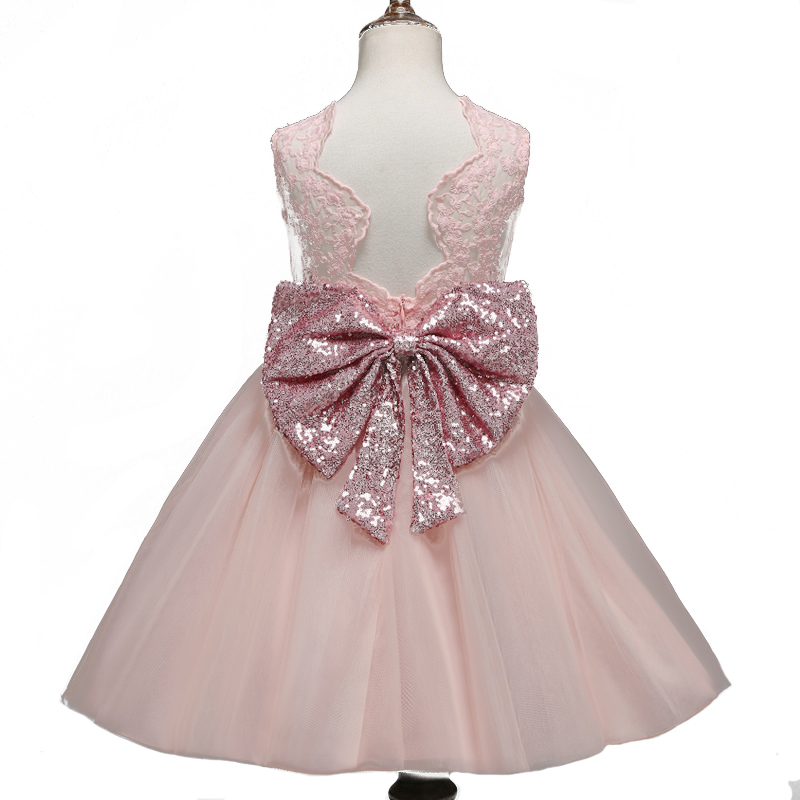 Nacolleo Lace Flower Girls Dress Infantil Baby Toddler Kids Party Wedding Vestidos Clothes Baby Birthday Gown Gifts 2017 new flower girls elegant sequined long mesh wedding birthday party dresses baby kids children vestidos infantil clothes