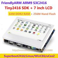 FriendlyARM ARM9 tiny2416 + 7 дюймов сенсорный экран, 64 м ОЗУ 256 м nand flash, s3c2416 развитию рычаг Kit, linux wince6