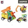 BD DIY инженерный автомобиль грузовик магнитные строительные блоки игрушки 162 шт образовательный набор ABS Магнит дизайнер детский подарок