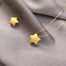 KOFSAC Fashion 925 Sterling Silver Necklaces For Women Jewelry Cute/Romantic Gold Brushed Mini Star Girl Valentines Day Gifts