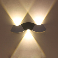 Tanbaby Modern Up And Down Led Wall Light Lamp 3W 300lm White AC85 265V Wave Sample