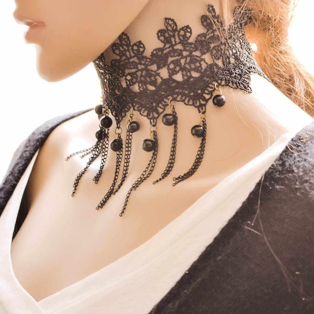 Xaggerate elegante temperament knospe silk art und kugel verdienen choker halskette spitze die europäischen und amerikanischen mode halskette