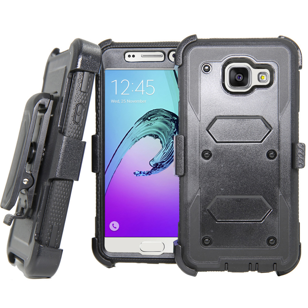 Shockproof Armor Case Kickstand Holster Belt Clip Cover For Samsung Galaxy A3 A5 J1 J3 2016/J7/S6 S7 Edge/Grand Prime/Note 5 7 }