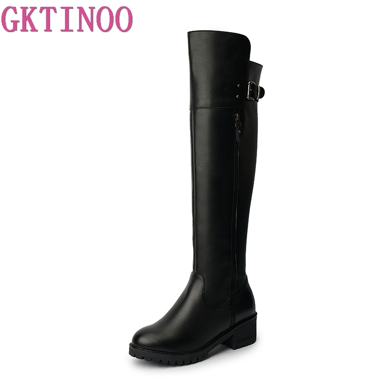 GKTINOO Female Over the Knee Boots Genuine Leather Womens Thigh High Boot Buckle Strap Thick Heels Shoes Woman Winter Warm FurGKTINOO Female Over the Knee Boots Genuine Leather Womens Thigh High Boot Buckle Strap Thick Heels Shoes Woman Winter Warm Fur