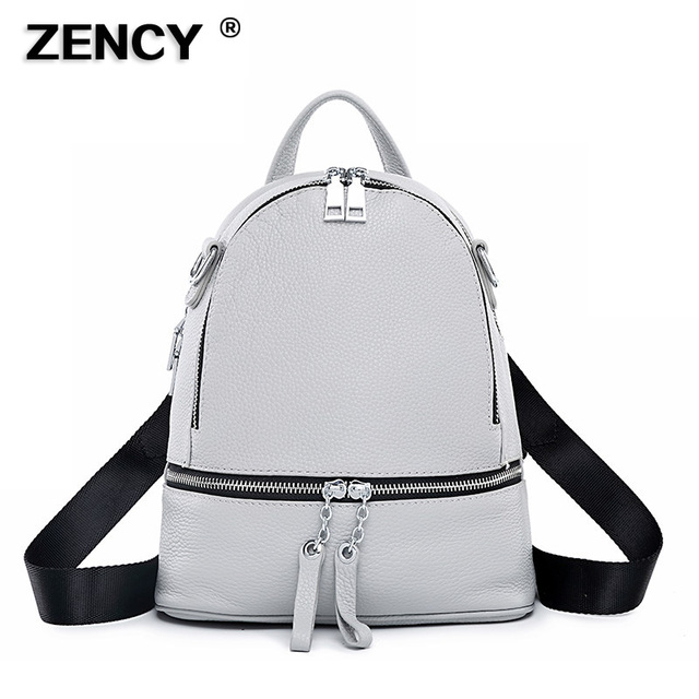 8ba5660407 100% Genuine Leather Excellent Fashion Women s Backpacks Ladies First Layer  Cow Leather Designer Summer Backpack Young Girls Bag