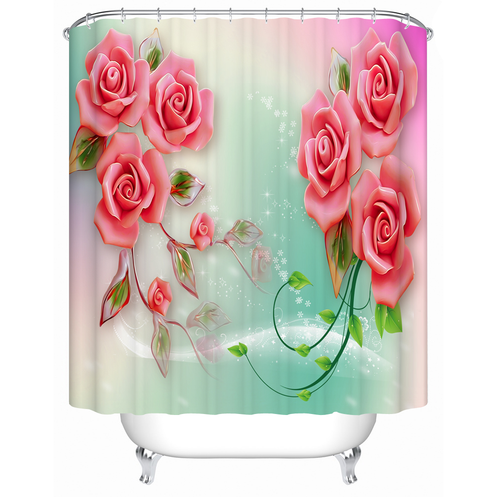 brilliant curtain valance bathroom double gallery swag roses white shower curtains of rose ideas bella