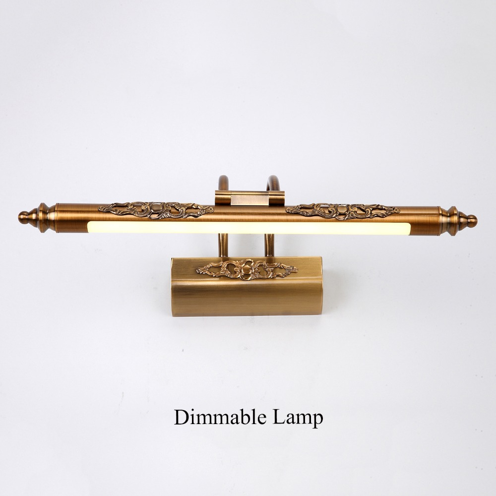 Retro Bronze LED Dimmable Wall Light Waterproof 2.4G RF Remote Control Wall Lamp AC90v To 265v For Bathroom Bedroom Mirror Lamp