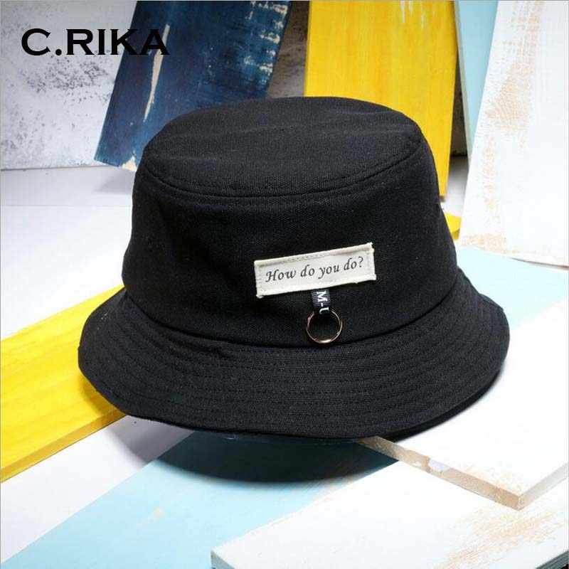 cc625ff0c4c97a men's Panama Bucket Hats ring Patch banana letter boonie Japanese hat Sad  Boy Bob 8 style