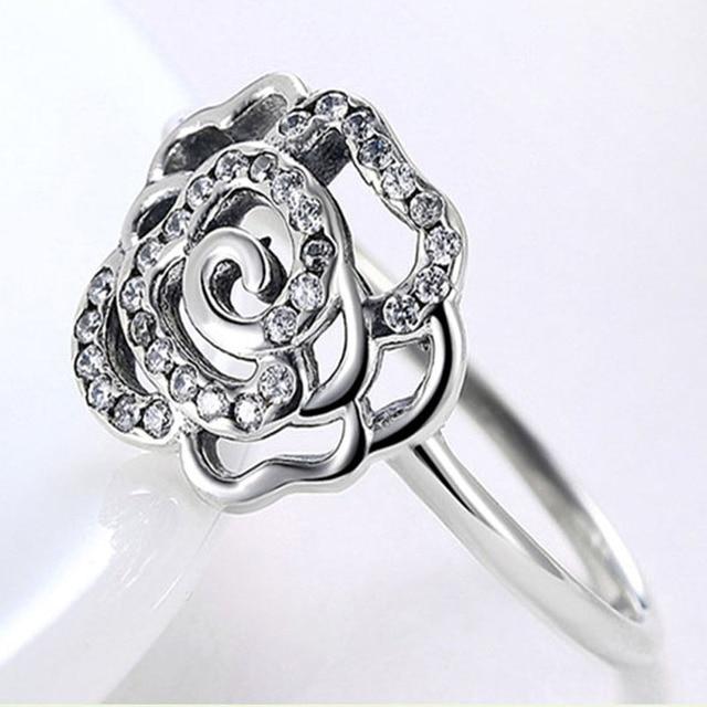 LARGERLOF Reale 925 Sterling Silver Ring Donne Belle gioielli Zircone anello In Argento Signore Degli Anelli RG52001