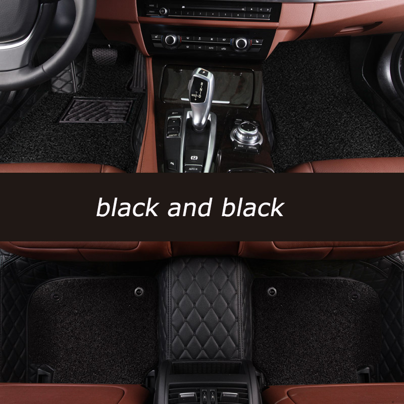 kalaisike Custom car floor mats For Mitsubishi All Models ASX pajero grandis outlander lancer galant Lancer-ex pajero sport