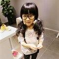 Niños lindos del bebé de la muchacha niños pequeños gato de la historieta impresión de manga larga camisetas sudaderas sudadera nuevo