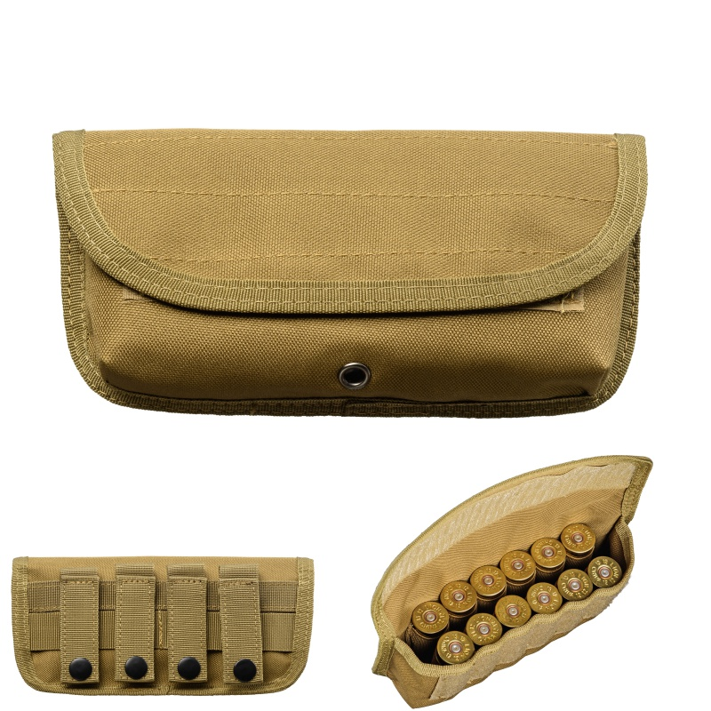 1000d Military Reload 12 Round Shotshell Holder Molle Pouch Tactical Magazine Pouch Sheath Airsoft Hunting Ammo Bag Clear And Distinctive