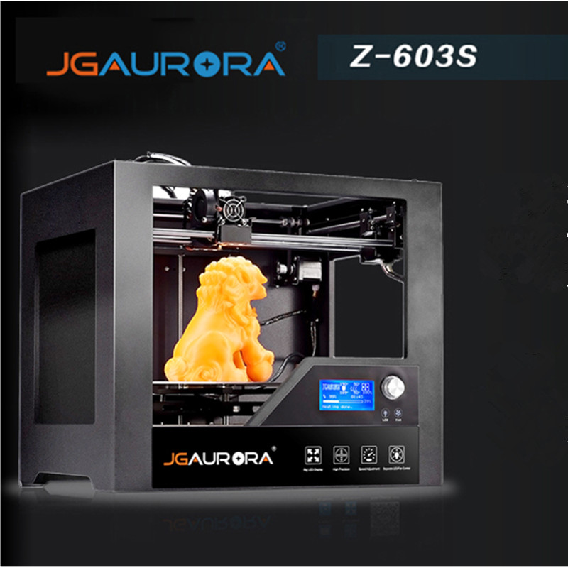 JGAURORA Z-603S Desktop 3D Printer 280 x 180 x 180mm Home Use with Heated Bed High Precision Metal Frame 3d printing ABS As Gift