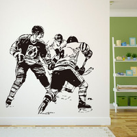 DCTOP A Group Ice Hockey Player In The Game Wall Sticker Transfers Home Decor Vinyl Removable