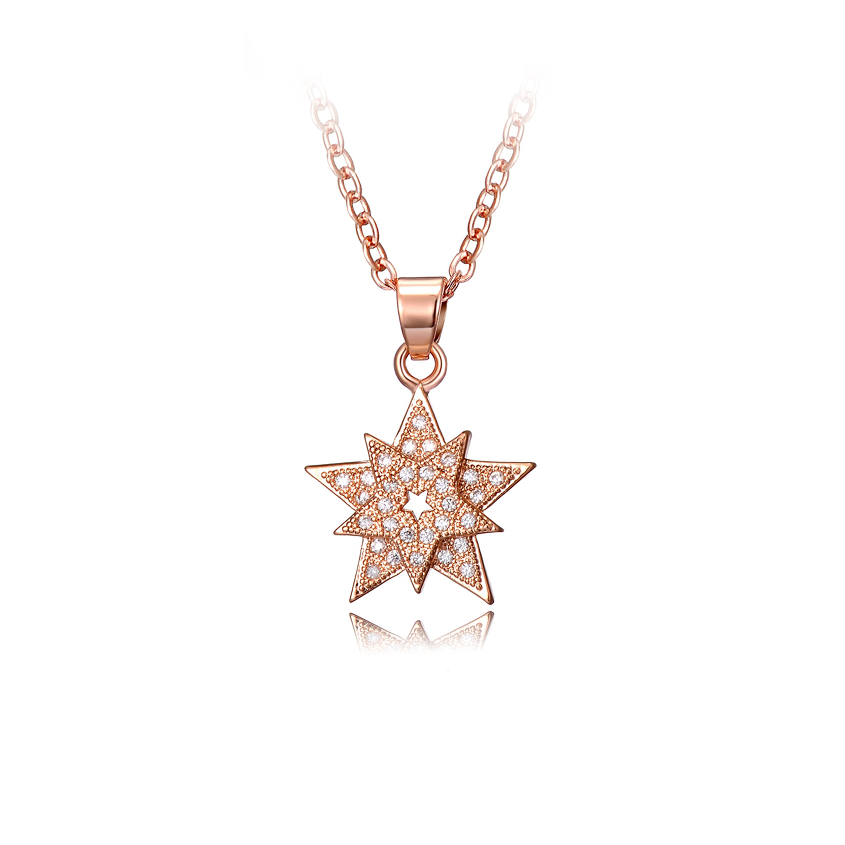 Elegant star shaped diamond necklace jewellrys website line buy wholesale star shaped pendants from china star shaped mozeypictures Image collections