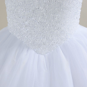 Image 5 - 2020 New Bling Bling Ball Gown Wedding Dress Off the Shoulder Bridal Wedding Gowns