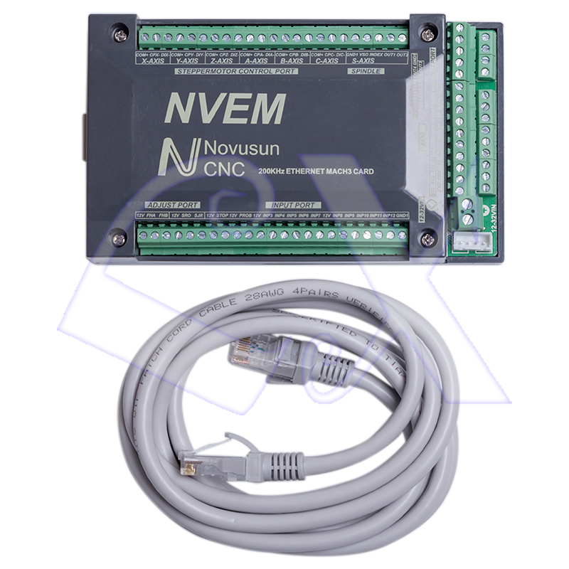 Freeshipping NVEM V2 1 4 axis CNC Controller 200KHZ Ethernet