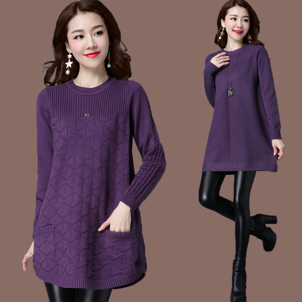 Autumn Winter Women Cashmere Sweater Dress Elegant Long Sleeve Plus Size 5XL Warm Knitted Pullover Wool Sweater Dress Vestidos bonu sexy bodycon sweater dress simple elegant dress female winter knitted flare sleeve split dresses for women vestidos