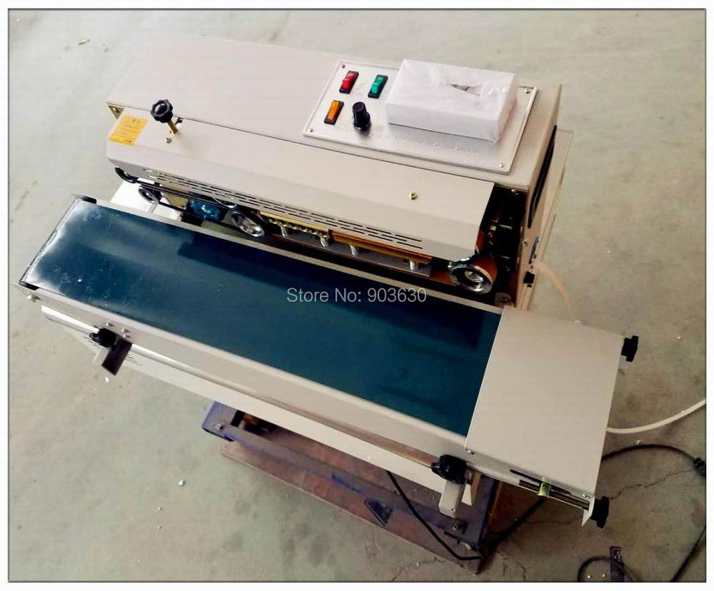 En gros 220 V continu en plastique sac Film thermocollant bande d'étanchéité Machine FR-900, impression de roue en acier, largeur d'étanchéité: 6-12 MM