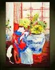 Astratto decorativo murale dipinto a mano dipinti signora elegante Arredamento Ristorante pittura a olio vecchio Cinese pittura a olio di arte - 1