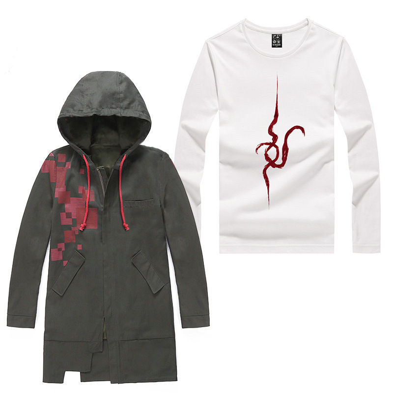 2017 New Style Anime Danganronpa: Komaeda Nagito Cosplay Costume Plus Size Coat Shirt Adult Unisex Garment D0119