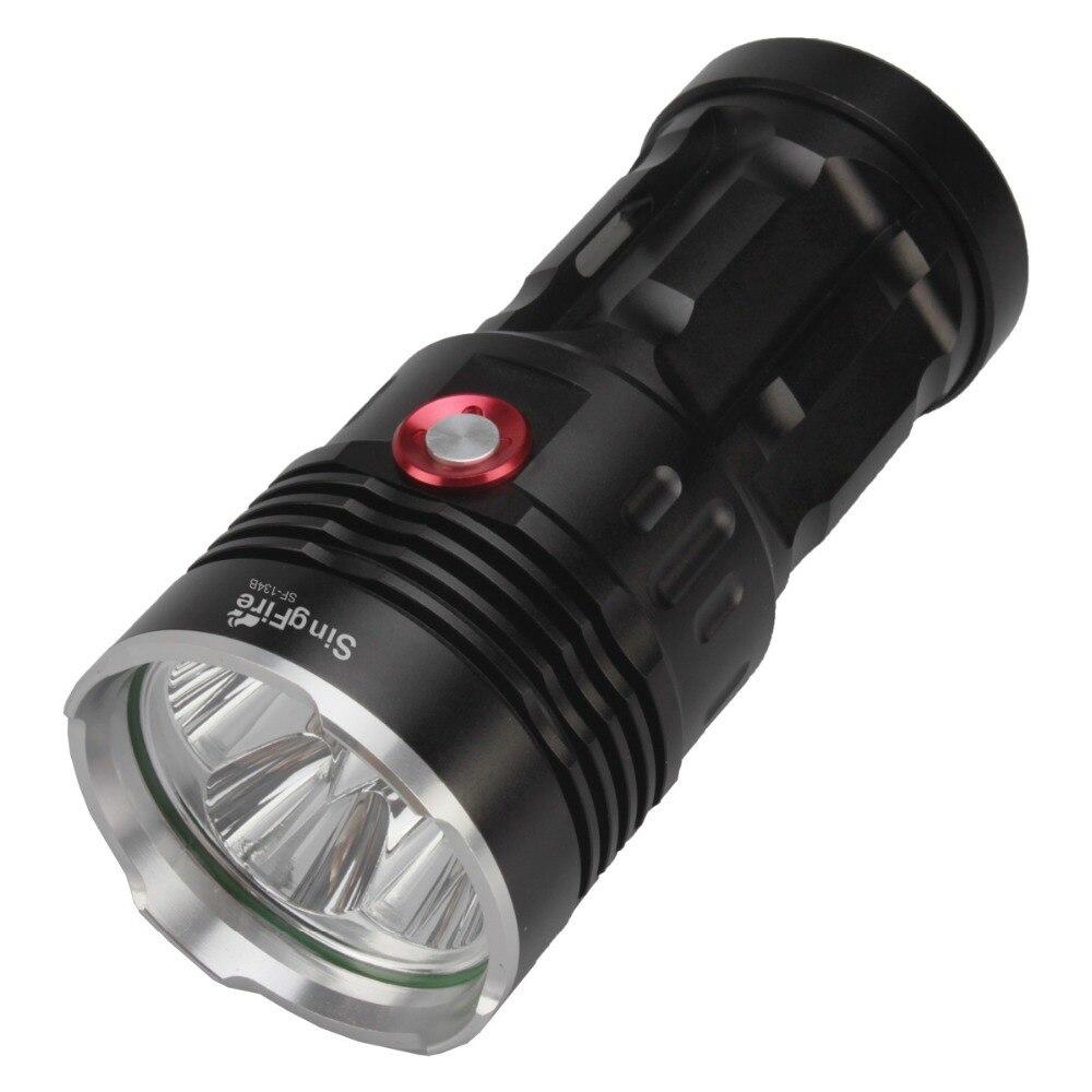 SingFire SF-134B 4 x Cree XM-L T6 2500lm Bianco 3-mode Alta Luce Della Torcia Elettrica-Nero (4x18650 Batteria)