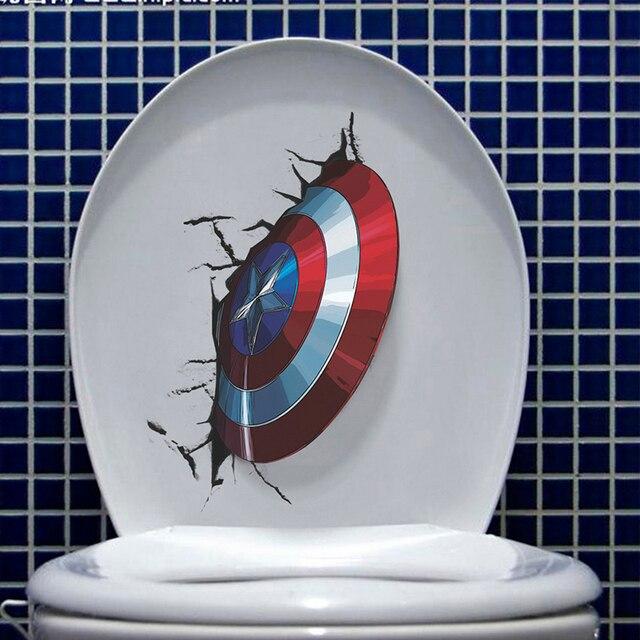 Captain America Toilet 21x30cm 2