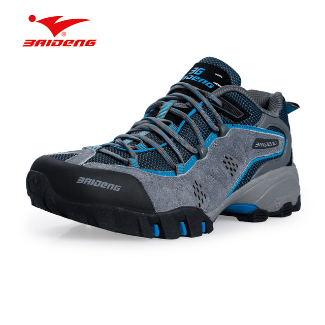 Cost-effective Men Outdoor Climbing Boots Waterproof High-cut Non-slip Men's hiking shoes Big Size 45