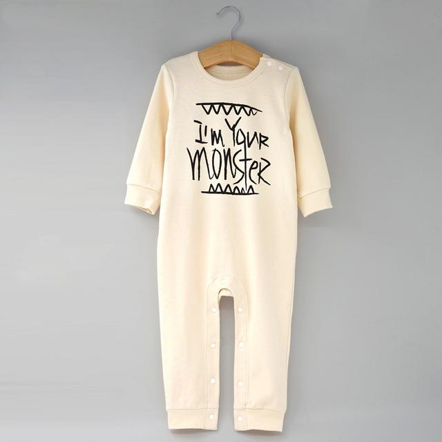 Primavera e outono roupas de bebê romper roupas de algodão infantil uma peça romper recém-nascido sleepwear