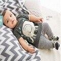 0-24 M Verão Recém-nascidos Meninos Roupas de Bebê de Algodão Infantil Roupas Elefante T Camisa E Calças da criança Do Bebê Menino roupas Definir