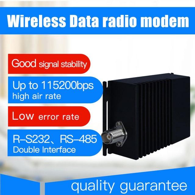 """10 ק""""מ ארוך טווח אלחוטי נתונים משדר ומקלט 115200bps vhf uhf רדיו נתונים מודם rs485 rs232 אלחוטי 433 משדר"""
