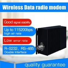 10 km lungo raggio senza fili trasmettitore e ricevitore di dati 115200bps vhf uhf radio modem dati rs485 rs232 senza fili 433 ricetrasmettitore