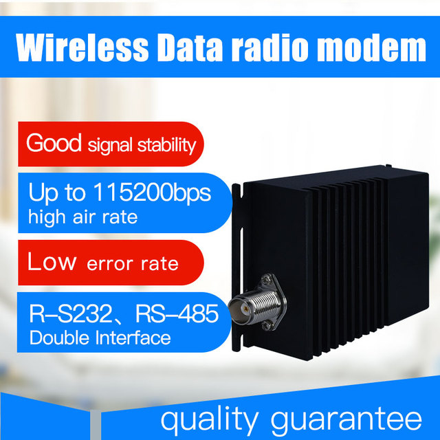 10 km uzun menzilli kablosuz veri verici ve alıcı 115200bps vhf uhf radyo veri modem rs485 rs232 kablosuz 433 verici