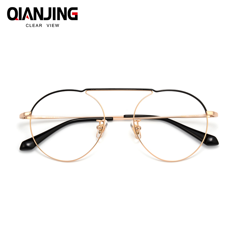 Largeur-136 Ultra léger pur titane plein cadre wrap rétro femme mince optique lunettes cadre hommes lunettes pour homme Spectacle cadre