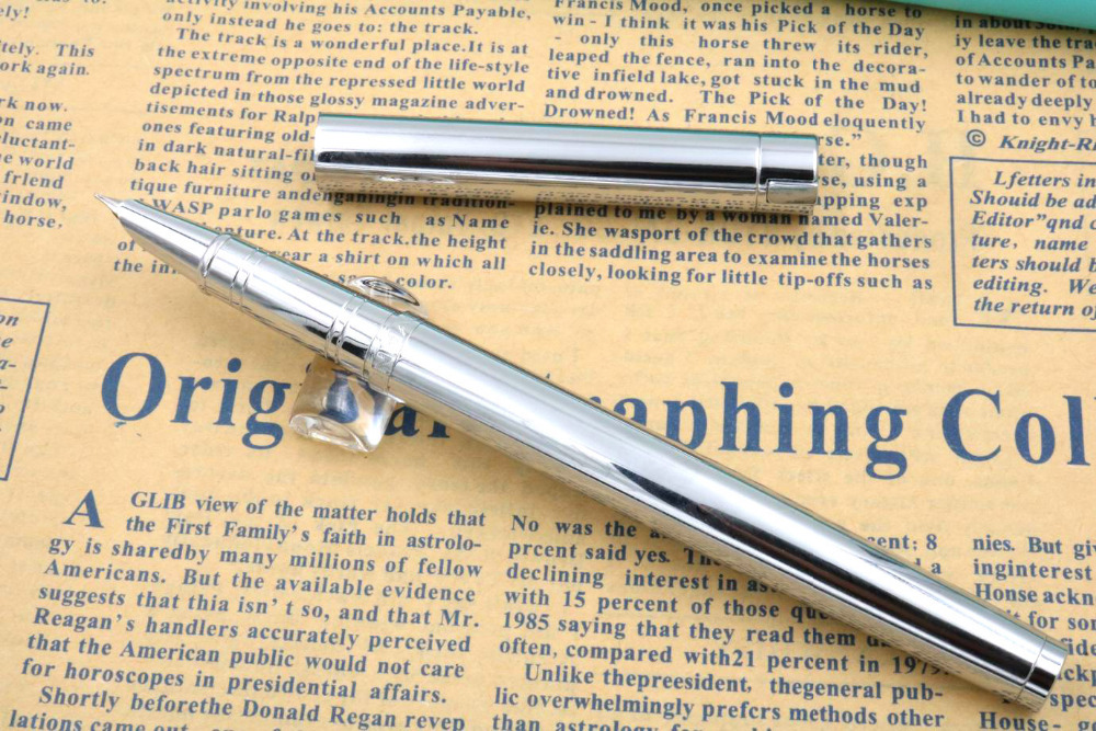 Jinhao Silver 126 All Steel Pen Piece Accounting Student Gift Set Fountain Pen