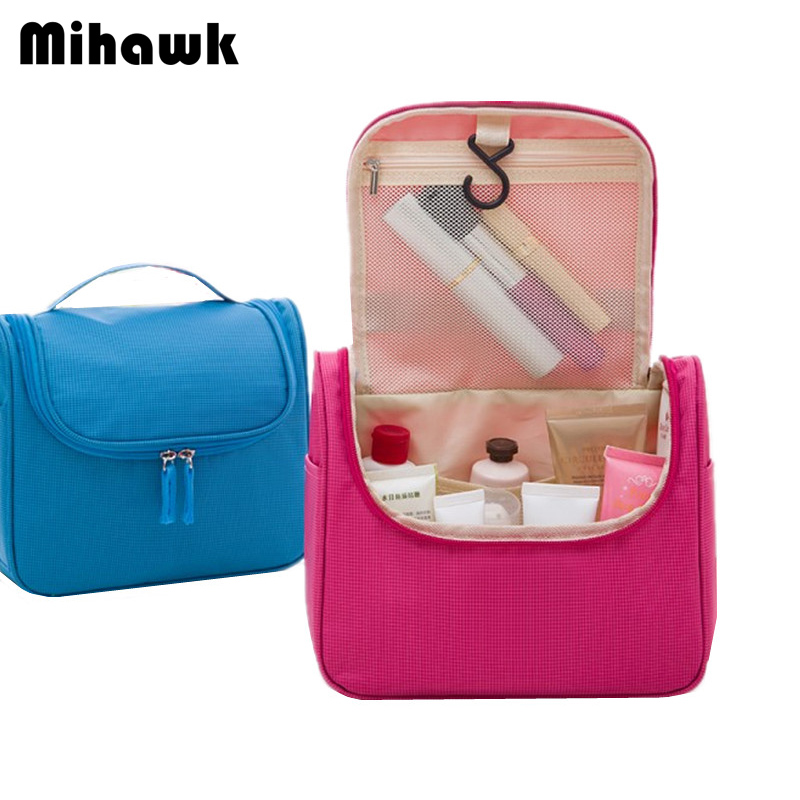Mihawk Women's Hanging Cosmetic Bag Men's Travel Organizer Wash Pouch Makeup Toiletries Storage Case Accessories Supply Products solid color fashion cosmetic bag ladies portable travel necessary markup pouch storage beauty tools accessories supply products