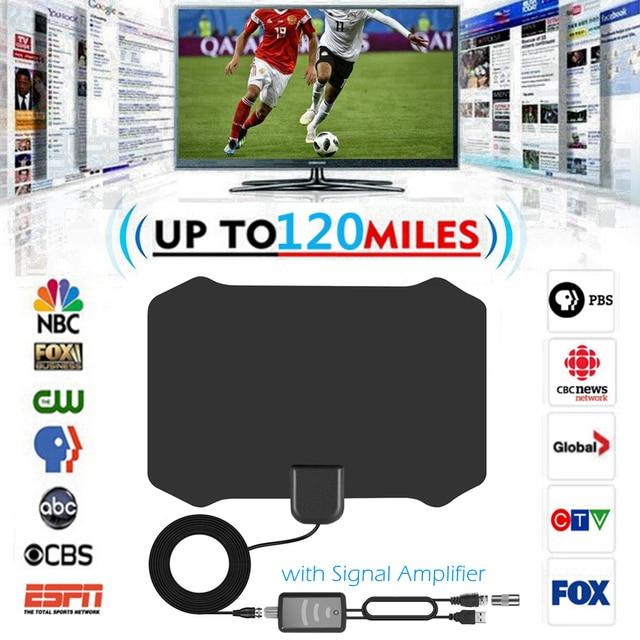 מקורה HDTV Antena טלוויזיה דיגיטלית אנטנה + אות מגבר מגבר VHF UHF כבל טלוויזיה לגלוש שועל Antenas טלוויזיה רדיוס אנטנות DVB T/T2