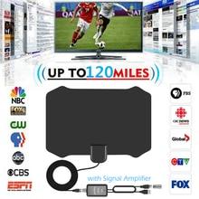 Indoor HDTV Antena Digital TV Antenna + Signal Amplifier Booster VHF UHF Cable TV Surf Fox Antenas TV Radius Antennas DVB T/T2
