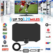 TV Digital Antena interior HDTV Antena + Booster Amplificador de Sinal VHF UHF Antenas de TV a Cabo TV Antenas Raio De Surf Raposa DVB T/T2