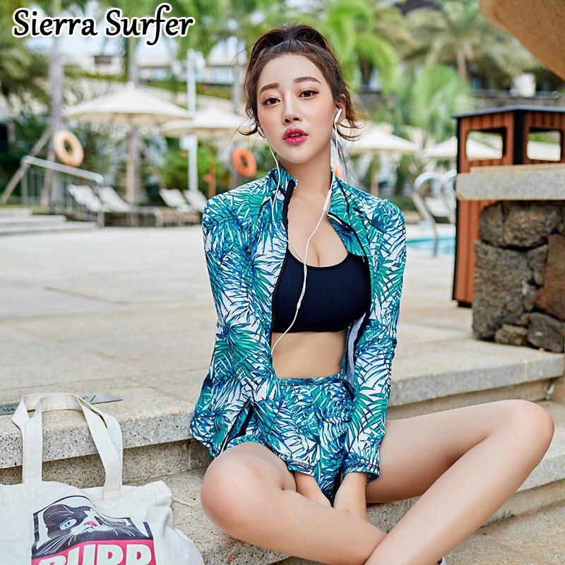 2018 Woman Bikinis Swimwear Female Bathing Clothes Women Plus Size Suit Bathers Swimsuits Or New 1005 Sports Leisure Three Piece