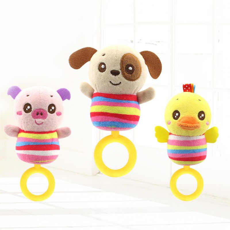Rattle เด็กของเล่นเด็กทารกทารกแรกเกิด Plush จับมือสัตว์น่ารักตุ๊กตาแหวน Handbell การศึกษาของเล่นของขวัญเด็กผู้หญิง