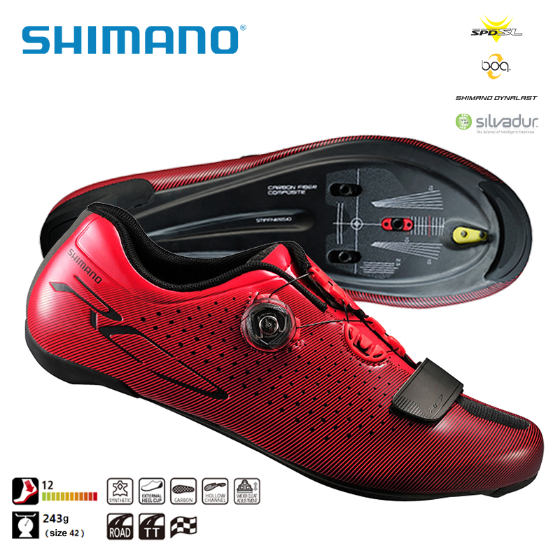 SHIMANO SH RC7 SPD SL Road Cycling Bike Shoes Riding Equipment Athletic Bicycle Cycling Locking Shoes